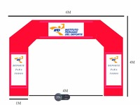Customized Red Arch Inflatables for Peru