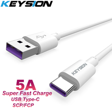 KEYSION Type-C 5A Super Charge USB Cable For Oneplus 7 Pro 6t 1+7 USB C Fast Charging Wire For Xiaomi Redmi Note 7 Mi 9 SE Mi A2