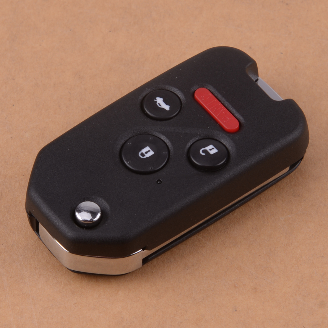 beler 4 Button 313.8Mhz Car <font><b>Flip</b></font> <font><b>Remote</b></font> Key Fob ID46 Chip Fit for <font><b>Honda</b></font> <font><b>Accord</b></font> Civic 2003 2004 2005 2006 2007 image