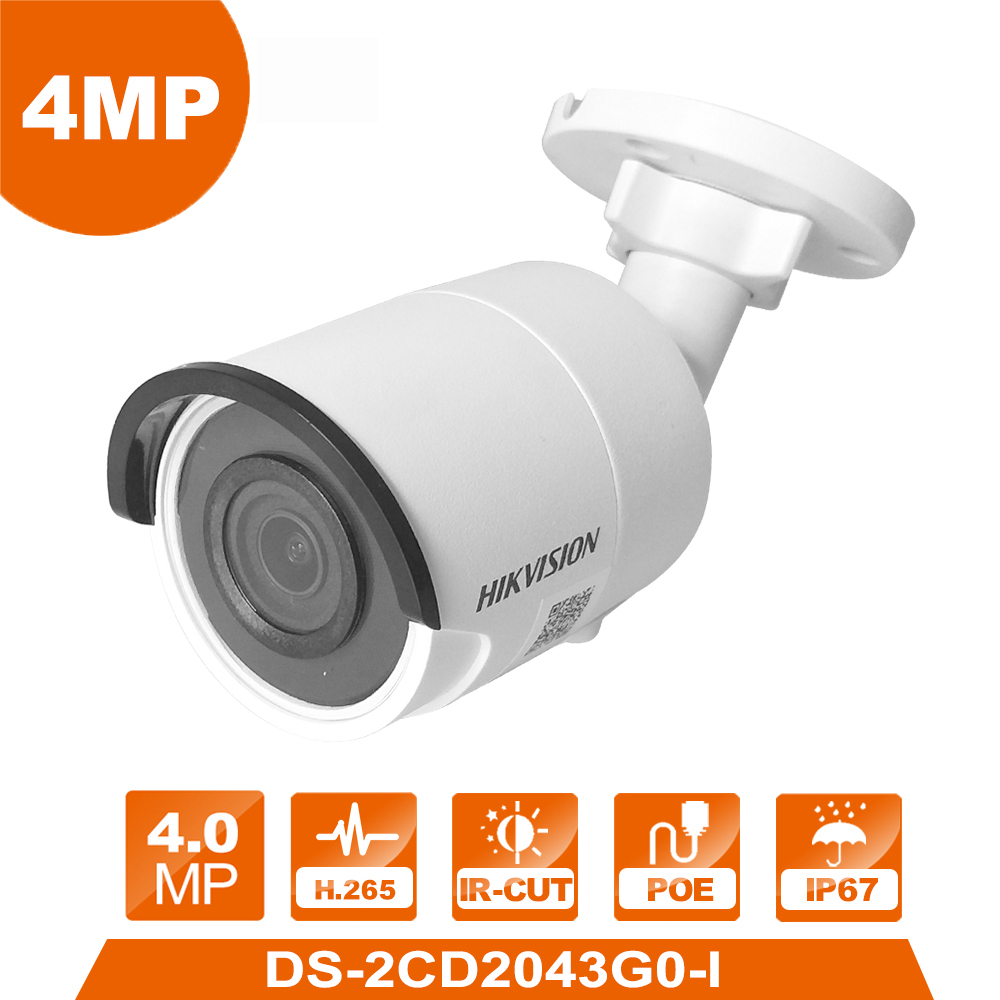 Hik Original DS 2CD2043G0 I 4MP Network Bullet font b Camera b font Security System upgrade