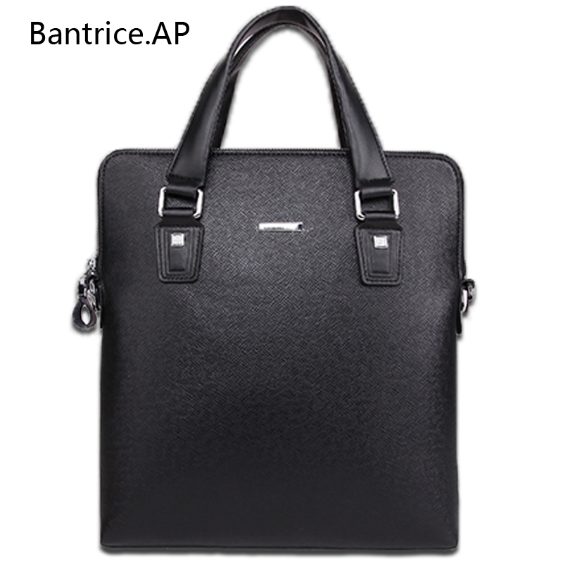 New High Quality Brand Male Leather Men Briefcase Bag Small Computer Bags Handbag Business bag Single shoulder business bags