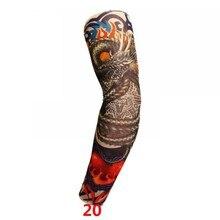 √  Подогреватели рук для женщин Татуировка Рукава ВС Блок Солнца Нейлон Бейсбол Цифровые многоразовые