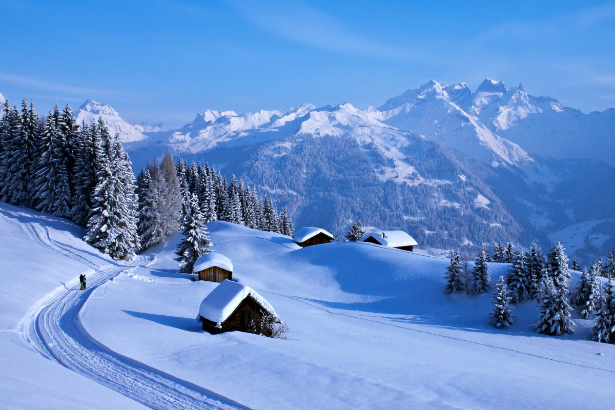 Nature Snow Winter Countryside Landscape Mountains Forest