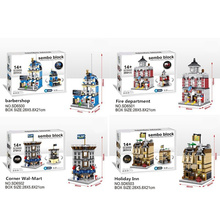 LETAI Model Building Blocks Kits Funny Bricks Compatible City Toys for Children Boys Fire Department Holiday