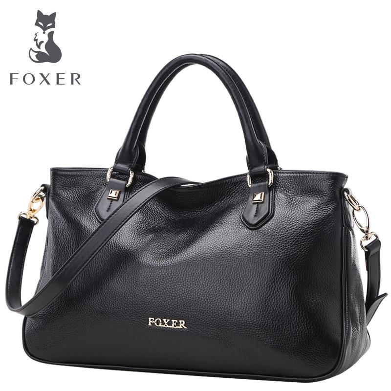 FOXER women handbag genuine leather bag fashion tote shoulder bags ... a6e2cb4141b98