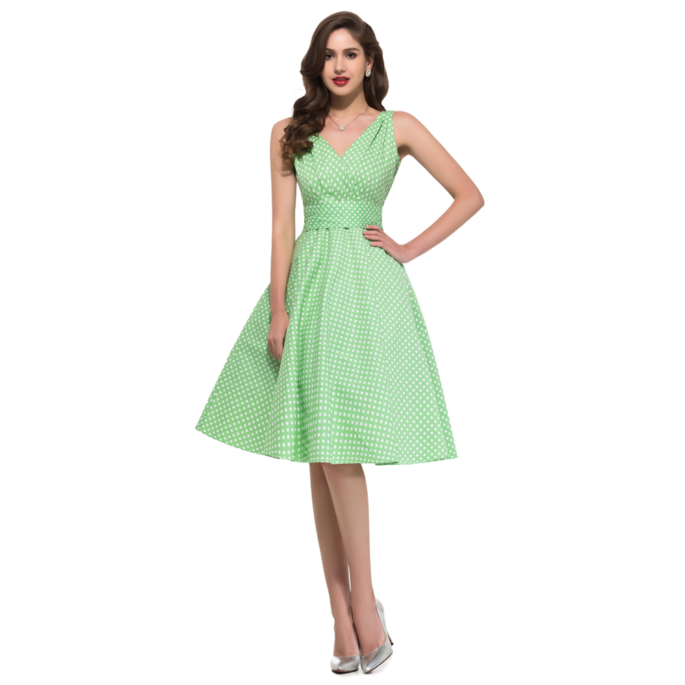 a71e845129ad Grace Karin 7 Colors Vintage 50s Audrey Hepburn Dress Plus Size Women  Summer Sexy Dress Club Rockabilly Dress Robe Hiver 6295-in Dresses from  Women's ...