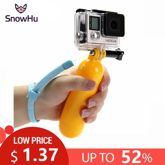 SnowHu for Gopro Accessories Bobber Floating Floaty Handheld Stick tripod accessories For Go Pro Hero 7 6 5 4 for Yi 4K GP81