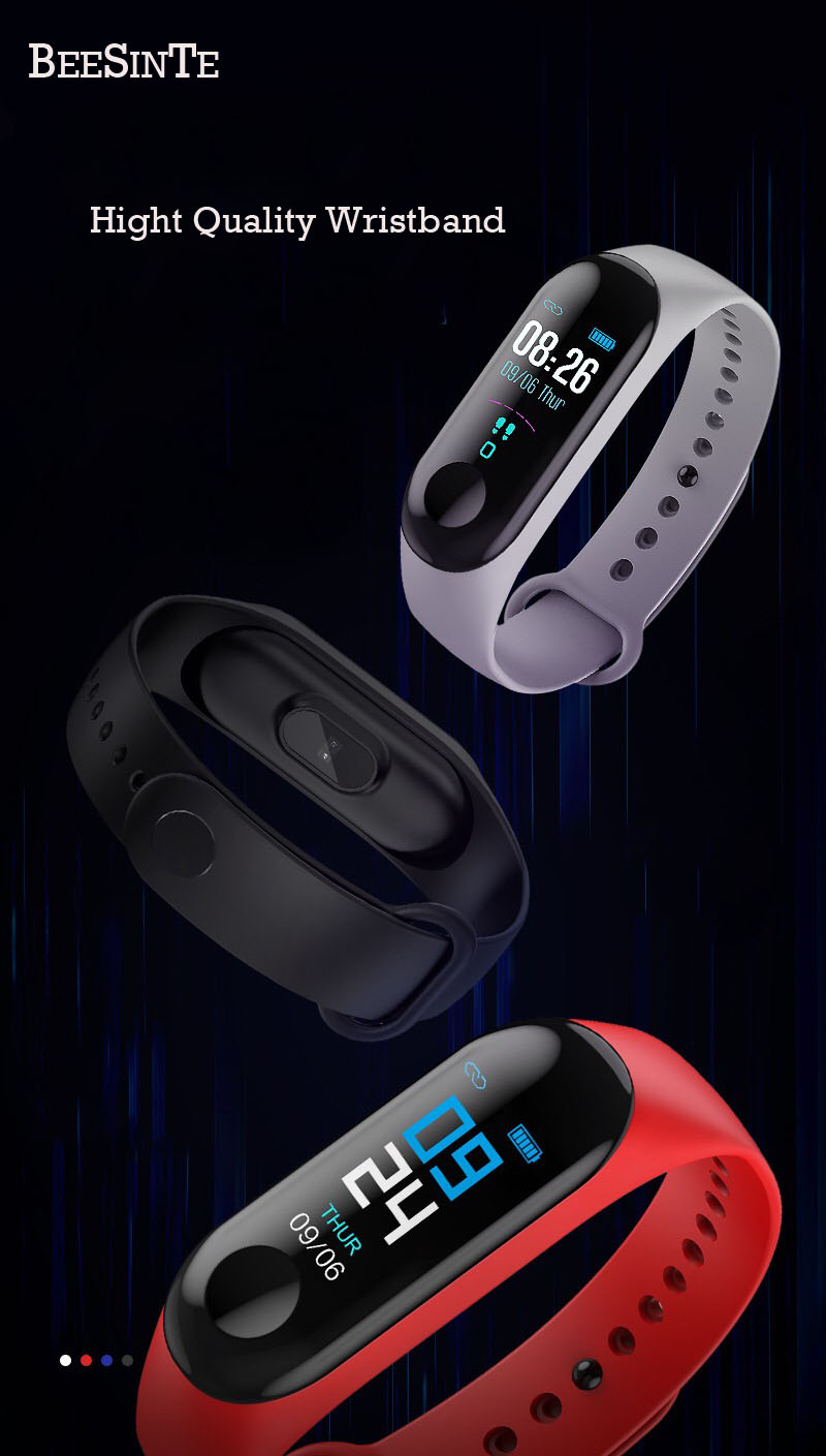 Image 5 - Smart Bracelet Fitness tracker Blood Pressure Outdoor IPS Screen Heart Rate Monitor Life Waterproof Smart Wristbands PKMi Band 3-in Smart Watches from Consumer Electronics