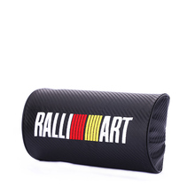 Exquisite embroidery for RALLIART emblem Car carbon fiber style headrest soft Neck Pillow Mitsubishi Lancer 10 9 accessories