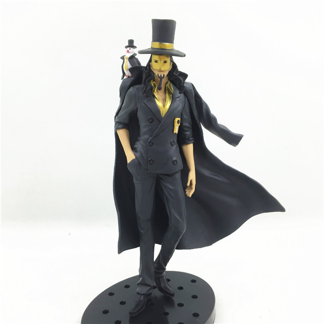 17CM pvc Japanese anime figure ONE PIECE Rob Lucci member of CP9 black cloak action figure collectible model toys for boy