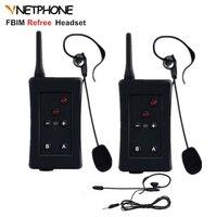 2pcs Football Referee Interphone Vnetphone FBIM Headset 1200M Bluetooth Helmet Intercom Full Duplex Wireless Ear Walkie