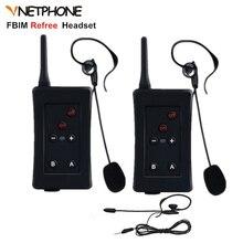 2pcs Football Referee Interphone Vnetphone FBIM Headset 1200M Bluetooth Helmet Intercom Full Duplex Wireless Ear Walkie Talkie