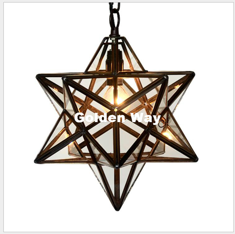 D40cm Free Ship Star Shapped Tiffany Pendant Light Baroque Style Hanging Lamp Stained Glass Suspended Luminaire E14 LED 110-240V