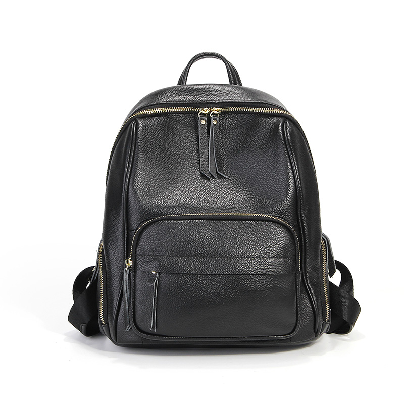 Fashion Women Backpack Genuine Leather Women Bags Casual Real Leather Laptop Backpack Solid Female Trave Bag School Bag #LF1875 new arrival 2017 female packsack laptop backpack genuine leather school bag multifunctional women bag