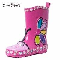 G-YOYO Kids Schoenen Een Daisy Melissa Regenlaarzen Meisjes Jelly Schoenen Lichtgewicht Waterdichte Baby Laarzen Peuter Meisje Schoenen 5 Size