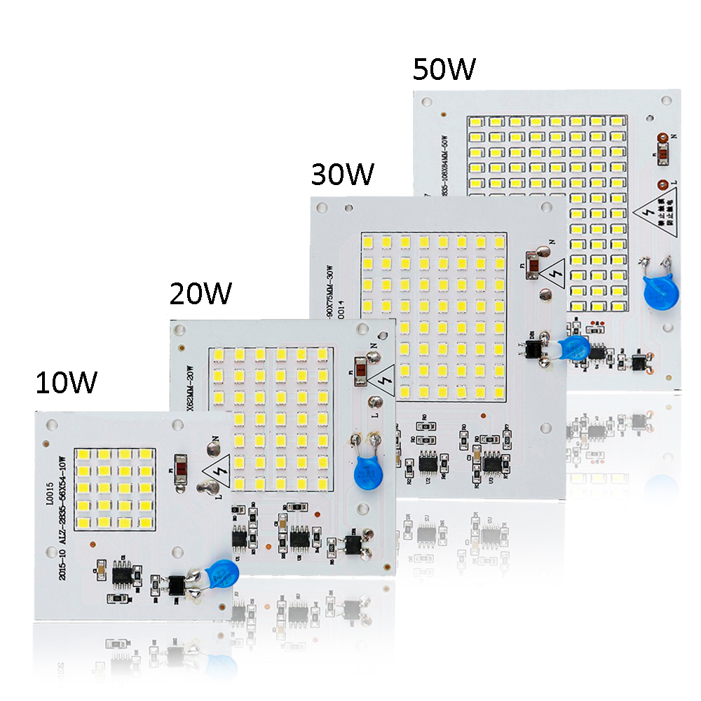 Smart IC <font><b>LED</b></font> Light Source Chip Lamp 2835 SMD <font><b>LED</b></font> Light Input <font><b>10W</b></font>/20W/30W/50W For Outdoor Garden Square <font><b>220V</b></font> DF image