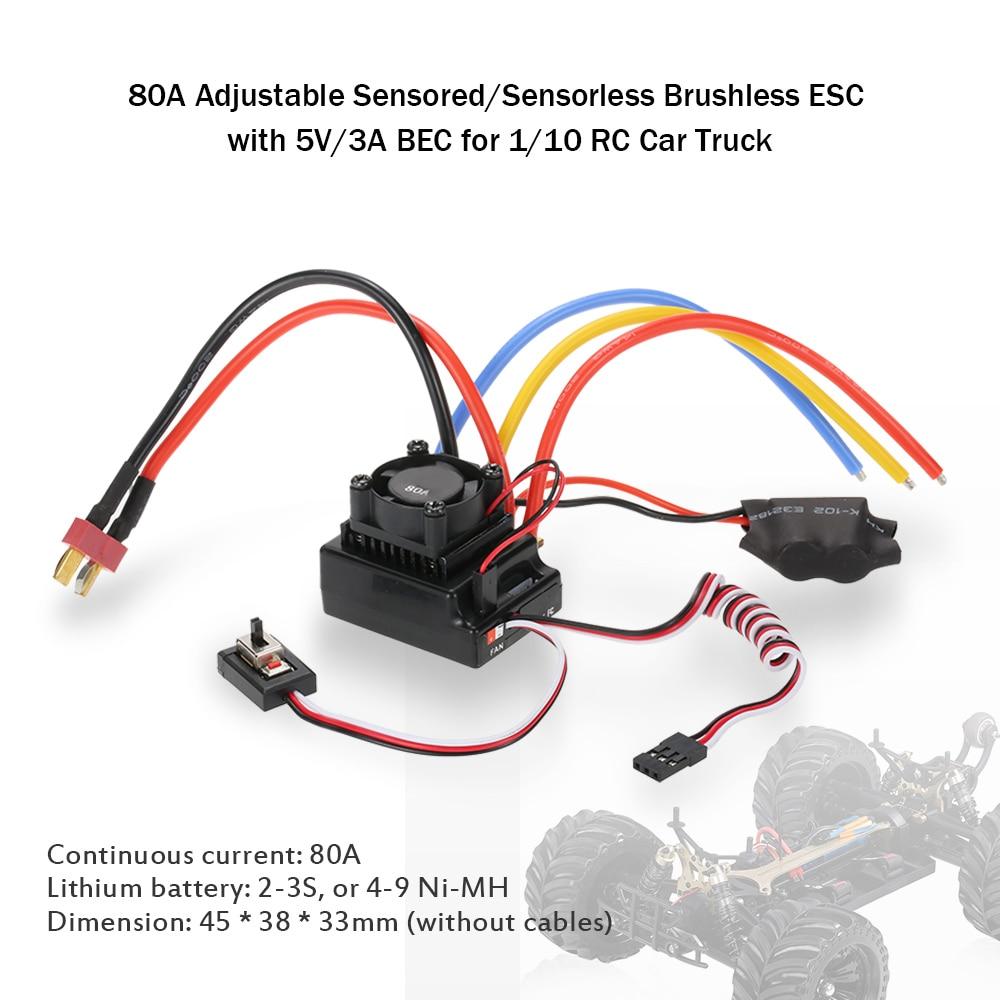 Brushless Esc Wiring Free Download Motors Bldc Motor 36bl Furthermore Controller 80a Adjustable Sensored Sensorless Electric Speed Diagram At
