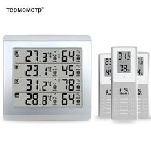 Weerstation Digitale Thermometer Hygrometer Indoor Outdoor Temperatuur Vochtigheid Sensor Monitor Alert + 3 Draadloze Zender