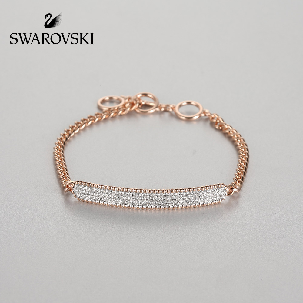 Original Genuine Swarovski LOCKET Fashion T - shaped buckle simple adjustable bracelet womens jewelry 5367822Original Genuine Swarovski LOCKET Fashion T - shaped buckle simple adjustable bracelet womens jewelry 5367822