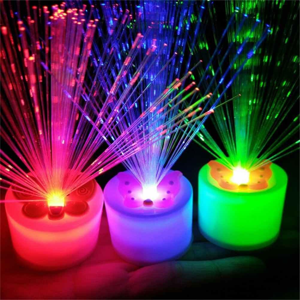1 шт. красивый романтический Цвет Изменение светодиодный волоконно-оптический ночник лампа маленький ночник Рождественские вечерние украшения дома