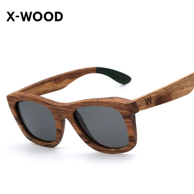 X-WOOD Madeira Zebra Óculos De Sol Lerdo Estilo Handmade Homens Espelho Da Moda Óculos De Sol De Madeira Polarizada Óculos Masculino óculos De Sol Oculos De Sol