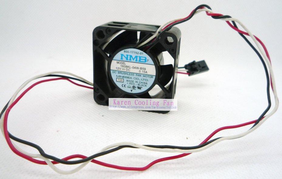 Ventilador de refrigeração nmb 4 cm 4020 12 v 0.15a 1608kl-04w-b59