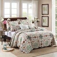 Annuonaキルティングテキスタイル3ピースクイーン/キングサイズ高級寝具セット寝具ベッドリネン布団カバーセットベッドシー