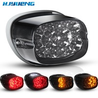 HJYUENG Smoke Tail Light LED integrated Turn Signals Harley Fatboy, Sportster, Dyna, Road King, Glides, Fatboy, XL 883 1200