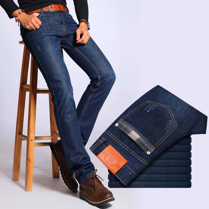 New brand fashion men s jeans straight tube young men s trousers