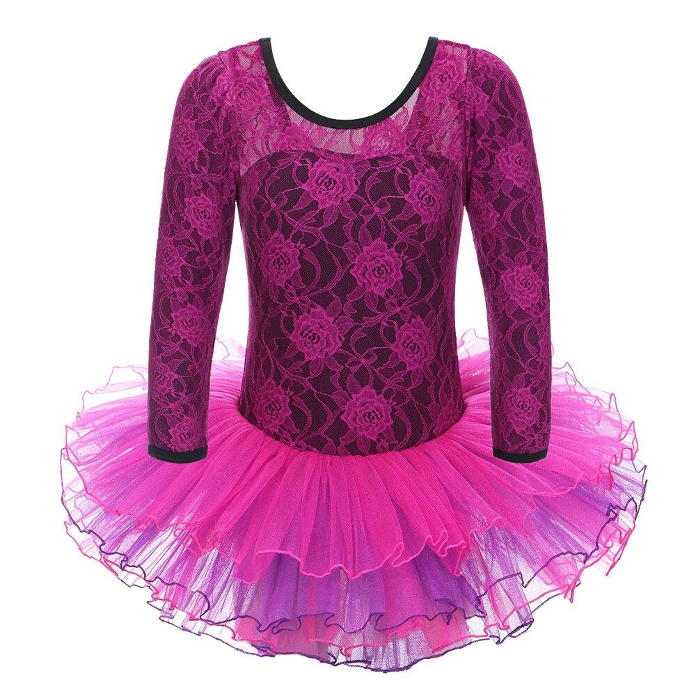 Manga larga púrpura amarillo leotardos gilrs niño Ballet vestido ...