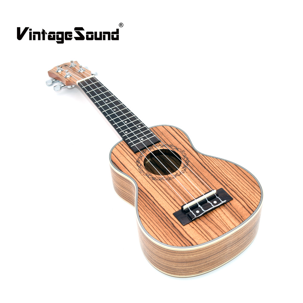 Ukulele 21 inches Concert Soprano Tenor Acoustic Ukelele 15 Fret 4 Strings Mini Guitar Zebrawood Musical Stringed Instruments