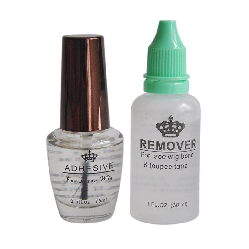 0.5FL .OZ(15ml) Adhesive Glue&30ml Remover Profession Wig Adhesives Glue For Lace Wig Hair Beauty Salon Accessory Wig Glue