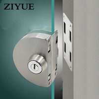 Free Shipping Quality Stainless Steel Frameless Glass Door Lock for home office Door thickness 10 12mm