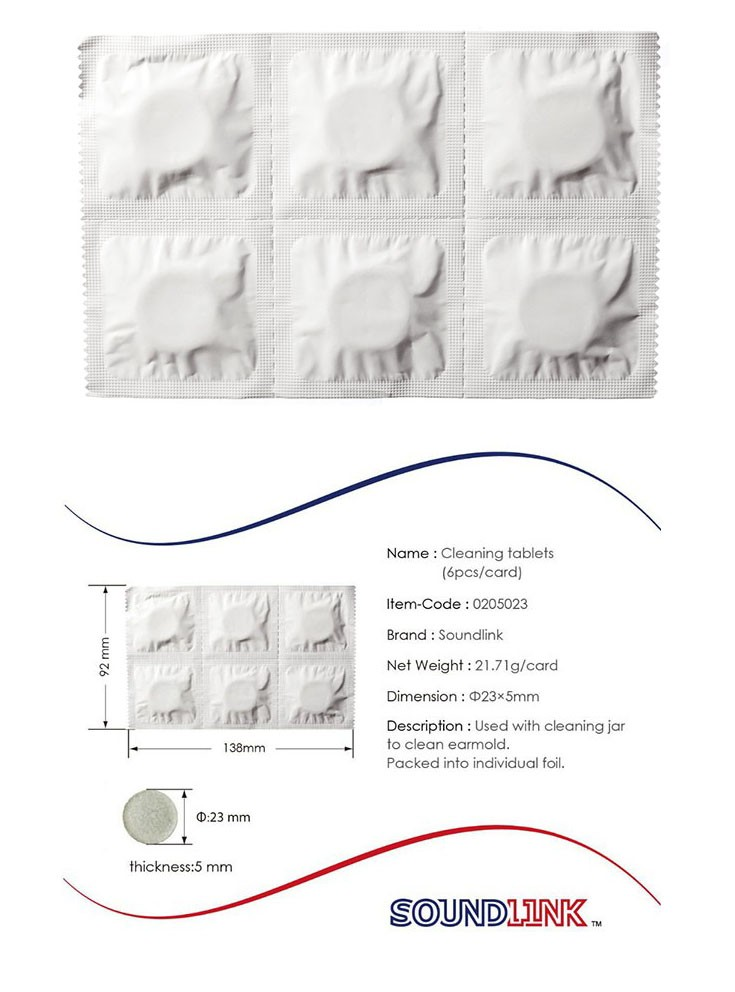 hearing aids earmold cleaning tablet