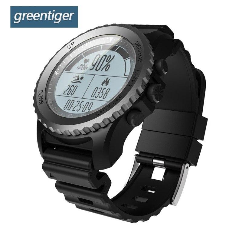 Greentiger S968 GPS Smart Watch IP68 Waterproof Heart Rate Monitor Sport Wristwatch Pedometer Swimming Men Outdoor