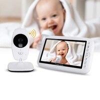 babykam baby camera video nanny 7 inch IR night light vision Baby Intercom Lullabies Temperature Sensor baby nanny radio monitor