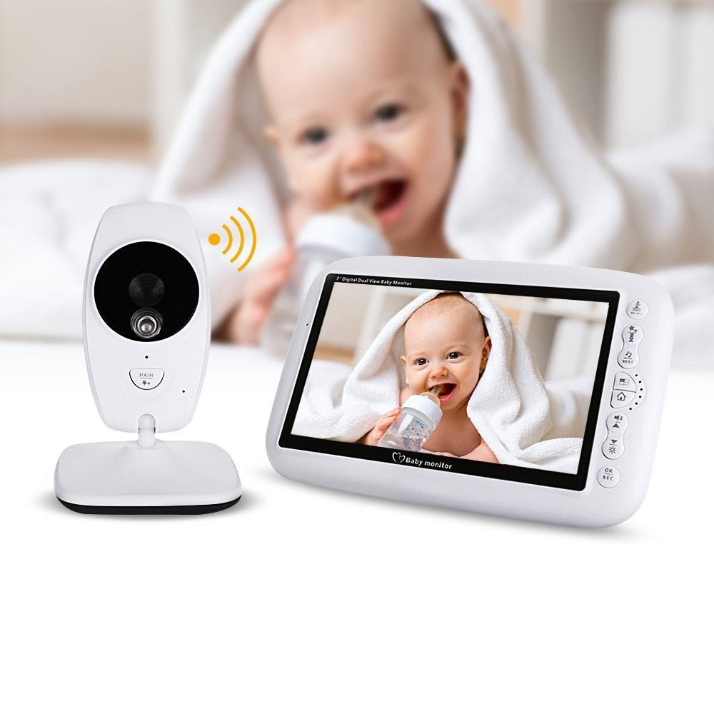 babykam baby camera video nanny 7 inch IR night light vision Baby Intercom Lullabies Temperature Sensor baby nanny radio monitor babykam baby phone video baby monitor 2 4 inch lcd ir night vision intercom lullaby temperature monitor baby phone camera nanny