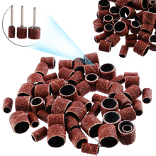 Hot Sale 63pcs Drum Sanding Bands 1/2 3/8 1/4 Mandrels Fit Nail Drill Rotary Tools for Metal Polishing Grinding