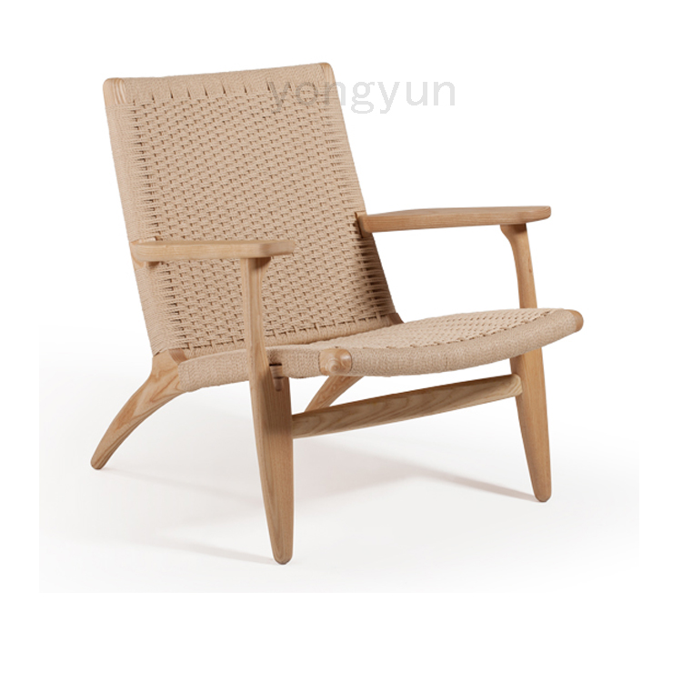 Clic Wegner Ch25 Easy Living Room Lounge Chairs Ash Solid Wood Chair