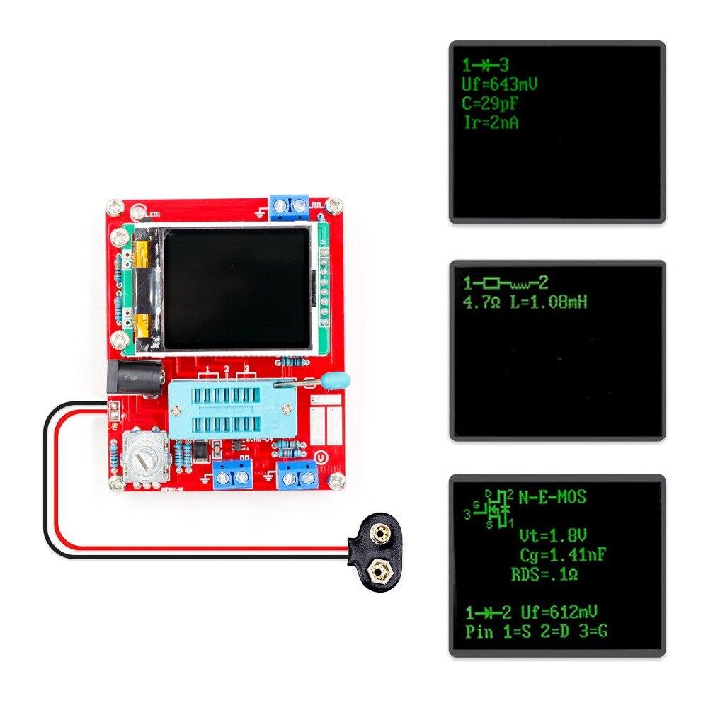 Probador multifuncional GM328 probador de Transistor capacitancia de diodo ESR medidor de frecuencia de voltaje PWM generador de señal de onda cuadrada