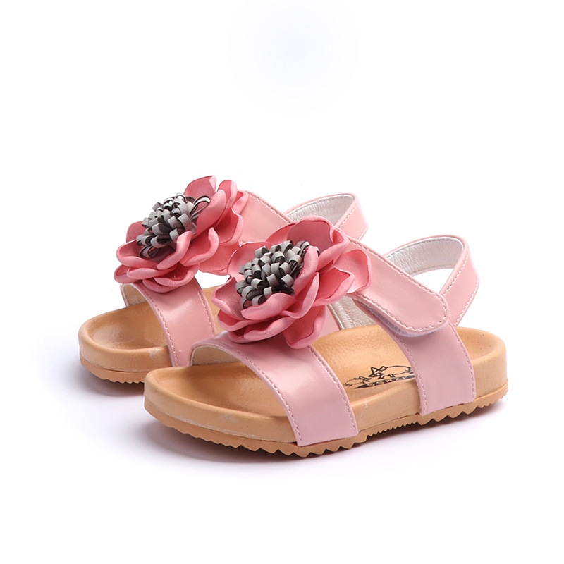 Zaizaile 2018 Summer Toddler Pu Sandalia plana de cuero Children - Zapatos de niños