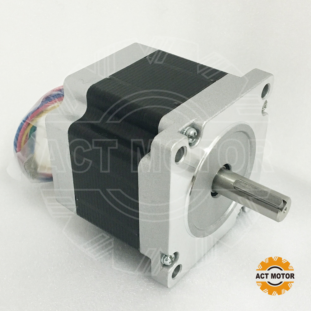Free ship from Germany!ACT Motor 1PC Nema34 Stepper Motor 34HS7440D12.7L34J5-1 710oz-in 78mm 4A 4-Lead 2Phase Engraving Machine shipping from china act motor 1pc nema34 brake motor 34hs5460d14l34j5 s8 1140oz in 150mm 6a 4 lead 2phase engraving machine