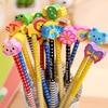 50 sztuk/partia Kawaii HB ołówki Cute Cartoon zwierząt drewniane ołówek z gumką biurowe do biura prezent dla dzieci ołówek hurtownia