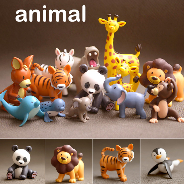My Zoo Animals Collection Action Figures Set Figurines Kids Toys For