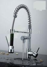 Pull Out Chrome Кухонный Кран Воды Мощность Одной Ручкой Поворотный Кухня Раковина Смеситель