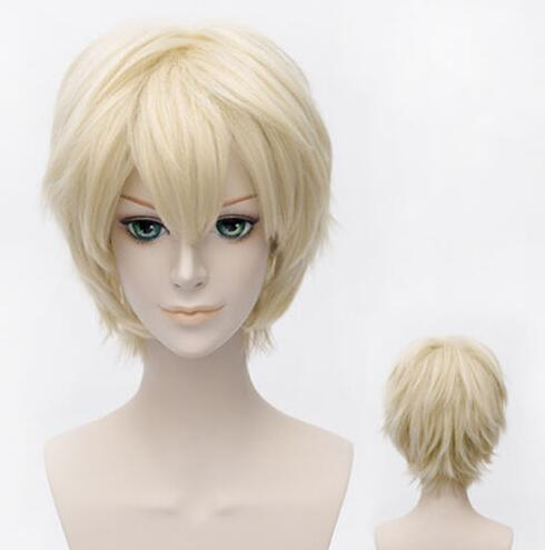 Seraph of the end Mikaela Hyakuya Cosplay Wigs 30cm Short Heat Resistant Synthetic Hair Perucas Cosplay Wig+wig cap