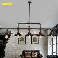 Conduit Creative Dining Room Lamp Wrought Iron Lamps And Lanterns Industry Wind Restoring Droplight Loft Bar