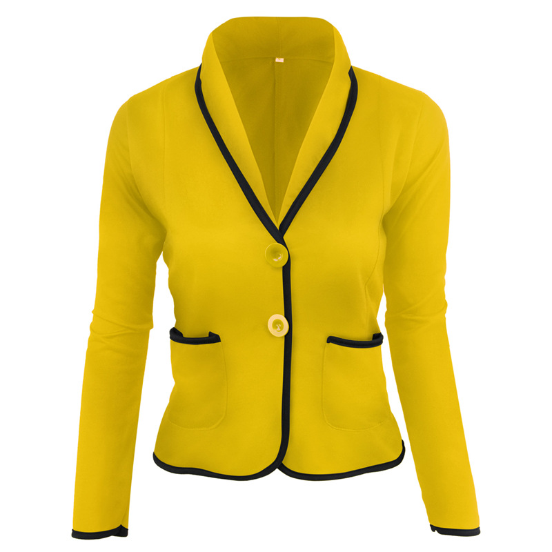 Slim Office Lady Blazer Plus Size 6XL Casual Patchwork Long Sleeve Female0 Crop Top 5xl V-neck Elegant Women Coat