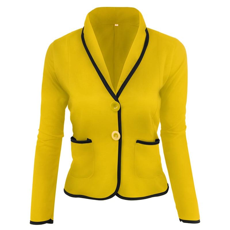 Slim Office Lady Blazer Plus Size 6XL Casual Patchwork Long Sleeve Female0 Crop Top 5xl V-neck Elegant Women Coat