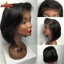 Short Human Hair Bob Wigs For Black Women Virgin Brazilian Straight Bob Lace Front Human Hair Wigs African American Bob Lace Wig